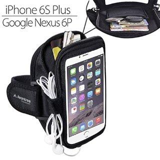 Avantree Fascia da Braccio Portacellulare Sport Armband e Portatessere per iPhone 6/6S Plus, Samsung Galaxy Note 4/Note 3, S6/S5 - Trackpouch