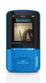 Philips SA4VBE04KN Lettore MP4 GoGear Vibe da 4 GB, Blu