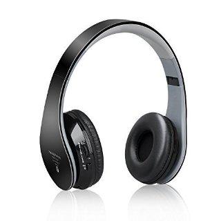 Headphones Bluetooth Stereo Over-ear,Cuffia Stereo Dinamica Chiusa Wireless Sportiva ad alta fedeltà Mp3 con 3.5mm Jack & Microfono Riduzione Rumore per IPhone, Android, Pc ed altri Dispositivi Bluetooth