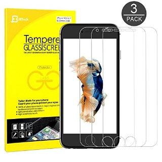 iPhone 6s Pellicola Protettiva, JETech® 3D Toccare Compatibile 3-Pack iPhone 6/6s 4.7 Screen Protector Pellicola Protettiva Temperato di vetro per Apple iPhone 6 e iPhone 6s Nuovo Modello 4.7