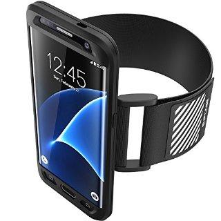 Samsung Galaxy S7 Edge 2016 Bracciale (fascia per il braccio), SUPCASE facile montaggio Sport Armband per correre con il tuo telefono. Custodia flessibile Premium Combo (nero)