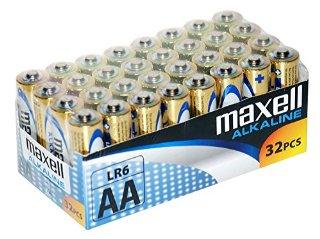 Maxell LR6 - Batterie alcaline stilo AA, pacco scorta da 32
