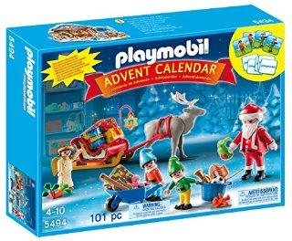 Playmobil 5494 - Calendario dell'Avvento, Atelier di Babbo Natale con gli Elfi