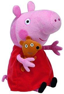 Recensioni dei clienti per TY 7196230 - Peppa grande - maiale con vestito rosso e orso, 25 cm | tripparia.it