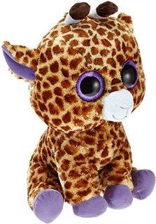 TY 7136801 - Safari Boo X-Large, Beanie Boos, giraffa di peluche 42 cm con occhi grandi, colore: Marrone