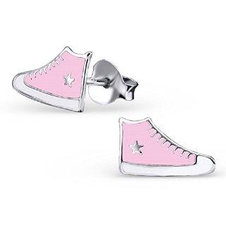 Recensioni dei clienti per Laimons orecchini per i bambini della scarpa da tennis scarpe stella d'argento 925 bianco rosa | tripparia.it