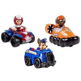 Spinmaster 6024059 - Paw Patrol Rescue Racer Personaggi, Chase, Zuma, Ryder