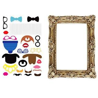 Recensioni dei clienti per Puntelli della foto Photo Booth con cornice dorata   tripparia.it