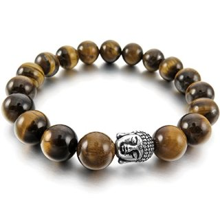 Recensioni dei clienti per MunkiMix 10 millimetri lega del braccialetto Link Link Energy collegamenti energetici Brown pietre d'agata argento branello della sfera Buddismo Buddista Mala | tripparia.it