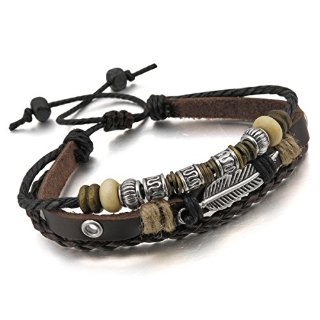 Recensioni dei clienti per MunkiMix lega metallica corda cinturino in pelle lega Marrone Argento uomini, donne | tripparia.it