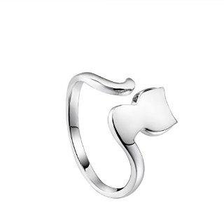 LYNN VIKI 100% in argento Sterling 925 anello gatto Form