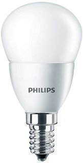Philips Lampadina LED, Attacco E14, 5W equivalente a 40W, 230V