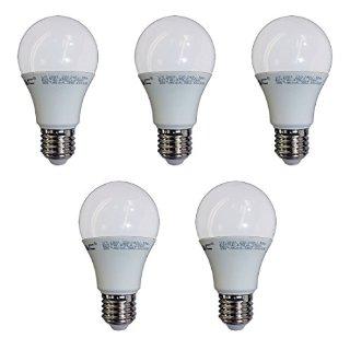Set di 5, V-TAC, 4376, 7W, E27, LED lampadina, lampada LED, ø60x108, 2700K, luce bianca calda, 470Lm, sostituisce 40W, raggio di illuminazione 200°.
