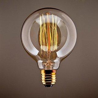 CMYK Vintage Grande lampadina Globo con gabbia di luce filamento della lampadina 40W (vecchio Edison) tappo a vite E27