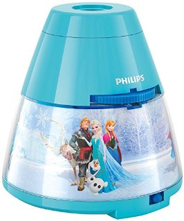 Philips e Disney, Luce notturna Bambini Proiettore LED, Frozen