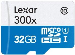 Lexar Scheda di Memoria MicroSDHC 300x, Classe 10, 32 GB, Bianco/Blu