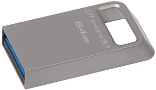 Kingston DataTraveler Micro 3.1 DTMC3/64GB Drive USB 3.1, Ultra-Compatto e Leggero, Metallo