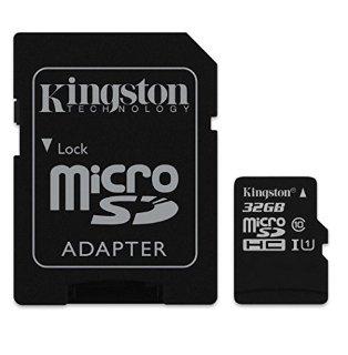 Kingston Scheda microSDHC/SDXC - Classe 10 UHS-I, 32GB Velocità Minima di 10 MB/s con Adattatore SD
