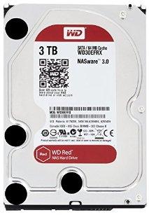 WD WD30EFRX Hard Disk Desktop per NAS, Intellipower, SATA 6 GB/s, 64 MB Cache, 3.5