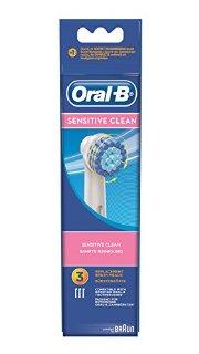 Oral-B Sensitive EBS17 Testine di Ricambio per Spazzolino Elettrico, 3 Pezzi