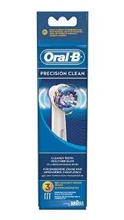 Oral-B EB20 Precision Clean Testina di Ricambio per Spazzolino Elettrico, 3 Pezzi