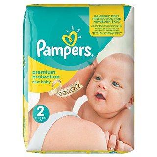Pampers, Pannolini New Baby, misura 2 (3 - 6 kg), confezione mensile, confezione da 240 pannolini