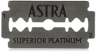 Astra - Lame in acciaio a doppio filo al platino per rasoio di sicurezza, confezione da 100 pezzi