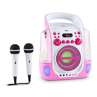 Commenti per Auna Kara Liquida Impianto Karaoke CD USB MP3 Getto D'Acqua LED 2 x Microfoni Portatile
