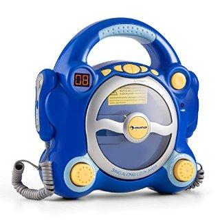 Commenti per Auna Pocket Rocker sistema karaoke SING-A-LONG per bambini con lettore CD (altoparlanti casse integrate, 2 microfoni con volumi separati, funzione program e repeat) blu