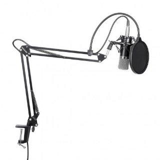 Commenti per Neewer® NW-700 Microfono a Condensatore Professionale Kit: 1* Microfono a Condensatore + 1* Braccio Sospeso a Forma Forbici & Antivibrazione Microfono + 1* Filtro Antipop + 1* Antivento + 1* 3.5mm Cavo Maschio a XLR Femmina