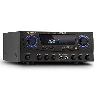 Commenti per auna Amp-2 Amplificatore Karaoke Finale di potenza HiFi (100 W max, 4 Ohm, USB SD MP3, 2 ingressi microfono, equalizzatore, RCA)