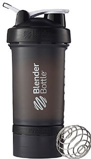 Blender Bottle Pro Stak - Borraccia Shaker, 22 once, colore nero