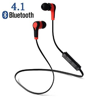 Auricolari Wireless Bluetooth 4.1 Headset Headphone Stereo Cuffie Sport con Microfono per iPhone 6s plus/6s, iPhone 5s/5c/5/4s, iPad, LG G2, Samsung Galaxy S6 Edge+/S6 Edge/S6/ S5/S4/S3, Note 4/Note 3/Note 2, Sony, Huawei ed altri Smartphone