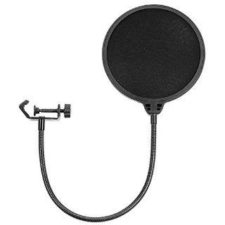Neewer® NW(B-3) 6pollici Filtro Antipop di Microfono da Studio con Clip di Supporto - Rotondo, Nero