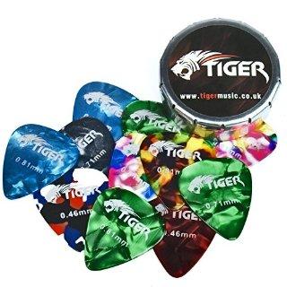 Tiger GAC14 - 10 plettri con barattolo contenitore