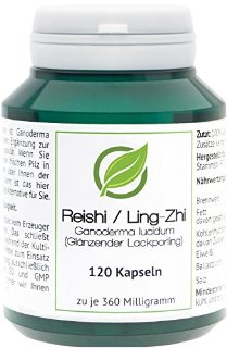Reishi | Ling-Zhi (Ganoderma lucidum) - 120 Capsule (360 mg) in barattolo salva aroma