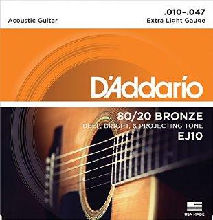 Commenti per D'Addario EJ10 Set Corde Acustica EJ 80/20 BRZ RND WND