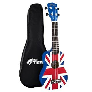 Commenti per Tiger UKE10-UK - Ukulele soprano per principianti, motivo: bandiera del Regno Unito