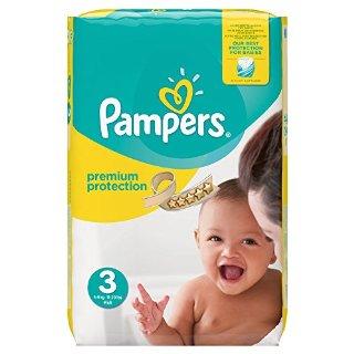 Pampers, Pannolini Premium Protection, misura 3 (5 - 9 kg), confezione da 204 pannolini