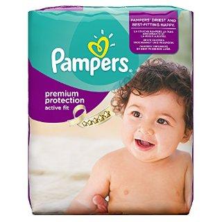 Pampers, Pannolini Active Fit, misura 4 (7 - 18 kg), confezione mensile, 1 confezione (1 x 168 pz.)