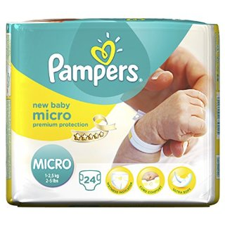 Pampers, Pannolini Premium Protection New Baby, misura 0 (1 - 2,5 kg), 6 confezioni (6 x 24 pz.)