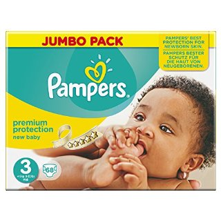 Pampers, Pannolini New Baby, 68 pz.,...
