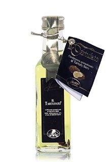 Olio di oliva al Tartufo Nero delle Langhe, con pezzi di Tartufo - Intenso (100 ml)