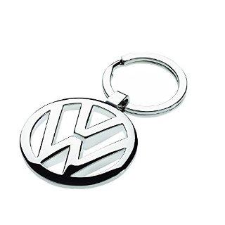 Volkswagen - Portachiavi con logo VW, colore: Argento