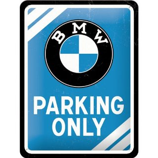 Nostalgic Art BMW Parking Only - Targa in metallo