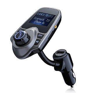 VicTsing Trasmettitore FM Bluetooth Wireless & Caricattore USB per Auto Car Kit con 3.5mm Porta Audio, Slot per Scheda di TF, Schermo di 1,44 Pollici - Nero