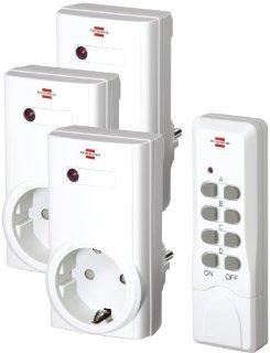 Brennenstuhl Comfort RCS 1000N Set prese telecomandate + telecomando - Manuale in tedesco