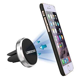Ubegood Magnetico Auto universale Car Air Vent Mount Holder Porta Magnetico Auto Supporto per iPhone 6s/6s Plus/5s/4, Samsung Galaxy S3/S4/S5/S6 edge+ e Smartphone (CARM2-Argento)