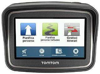 TomTom Rider Europa 23 GSP per Moto, Mappe Gratis a Vita, Nero/Antracite