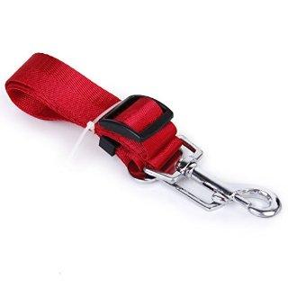 SODIAL (R) Cintura di sicurezza guinzaglio regolabile per cane Accessori auto (Rosso)